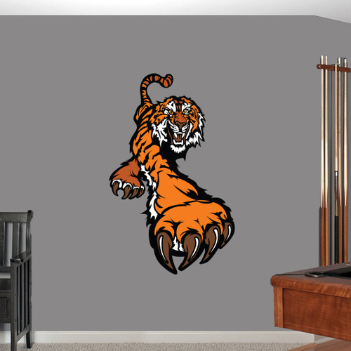 """Tiger Mascot Printed Wall Decals 30"""" wide x 48"""" tall Sample Image"""