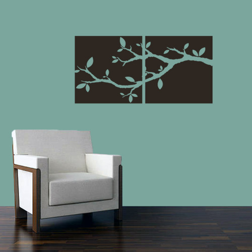 Tree Branch Cutout Squares Wall Decals and Stickers