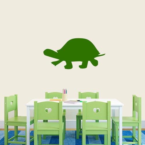 """Turtle Silhouette Wall Decal 24"""" wide x 12"""" tall Sample Image"""