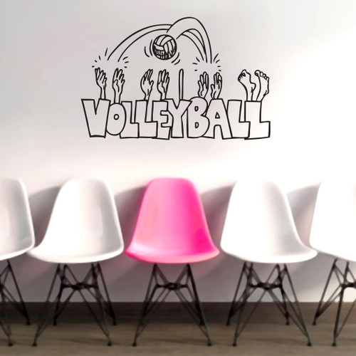Volleyball Cartoon Wall Decals and Wall Stickers