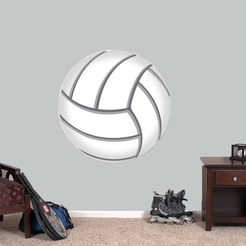 "Volleyball Printed Wall Decals 36"" wide x 36"" tall Sample Image"