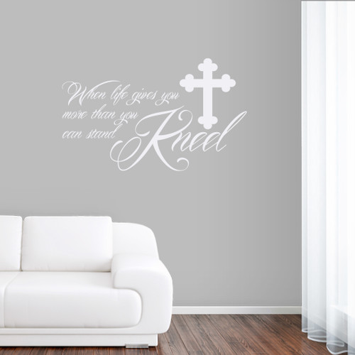 "Kneel Wall Decals 36"" wide x 22"" tall Sample Image"