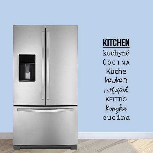 """Words For Kitchen Wall Decals 16"""" wide x 48"""" tall Sample Image"""