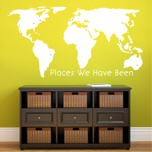 World Map - Places We've Been Wall Decals and Stickers