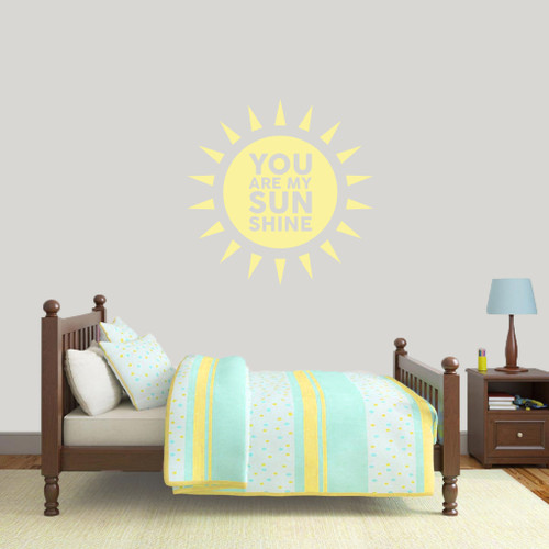 """You Are My Sunshine Wall Decals 36"""" wide x 36"""" tall Sample Image"""