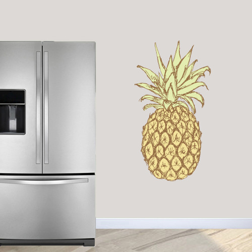 """Pineapple Printed Wall Decals 26"""" wide x 48"""" tall Sample Image"""