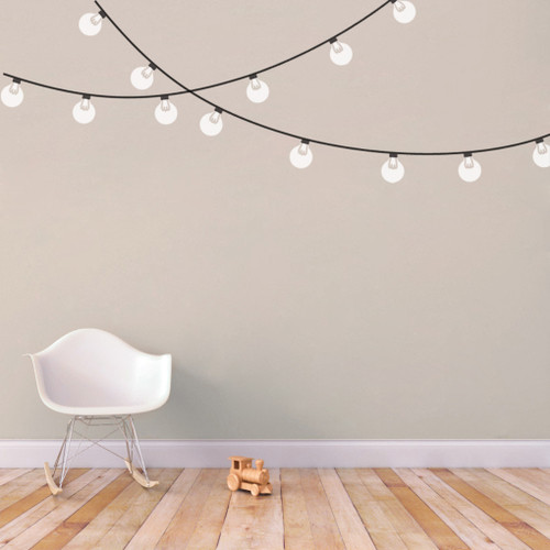 String Globe Lights Printed Wall Decals and Stickers