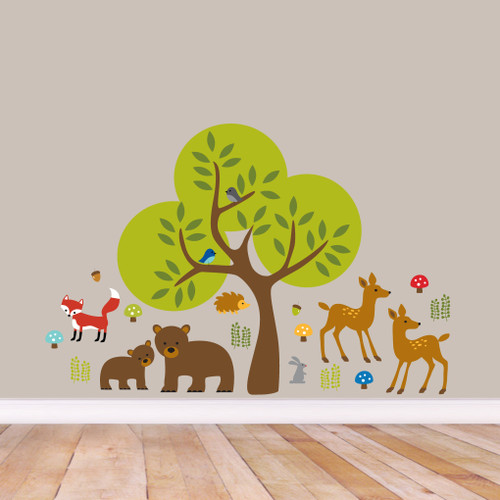 Woodland Forest Printed Wall Decals Small Sample Image