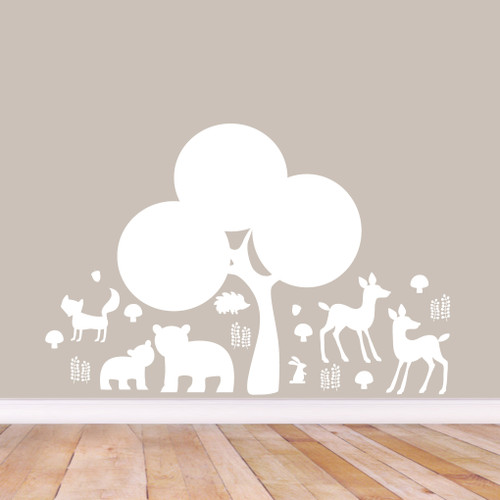 Woodland Forest Silhouette Wall Decals Small Sample Image