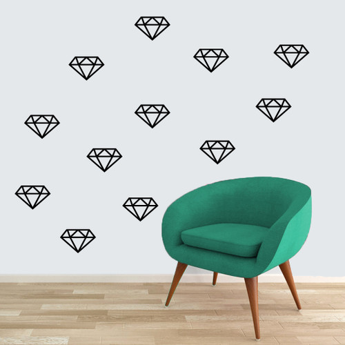 Diamonds Wall Decals Large Sample Image