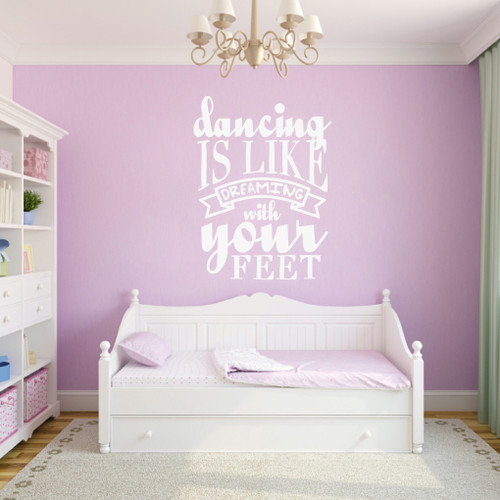 "Dancing Is Like Dreaming Wall Decals 36"" wide x 48"" tall Sample Image"
