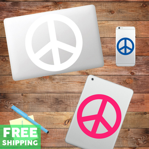 Peace Sign Device Decal Water Bottle Stickers