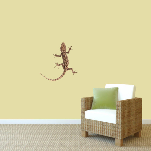 "Real Life Lizard Printed Wall Decal 18"" wide x 18"" tall Sample Image"