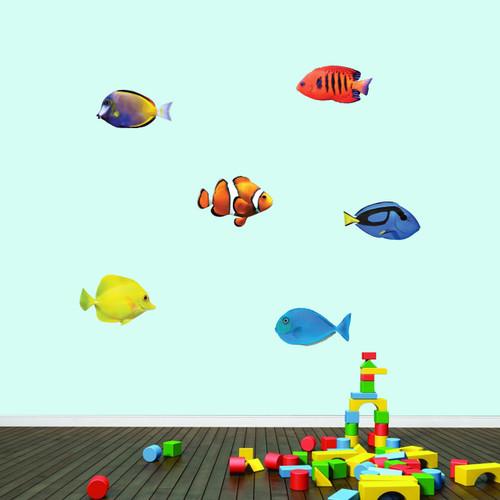 Real Life Fish Printed Wall Decal Medium Sample Image