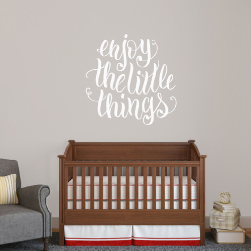 """Enjoy The Little Things Wall Decal 36"""" wide x 36"""" tall Sample Image"""