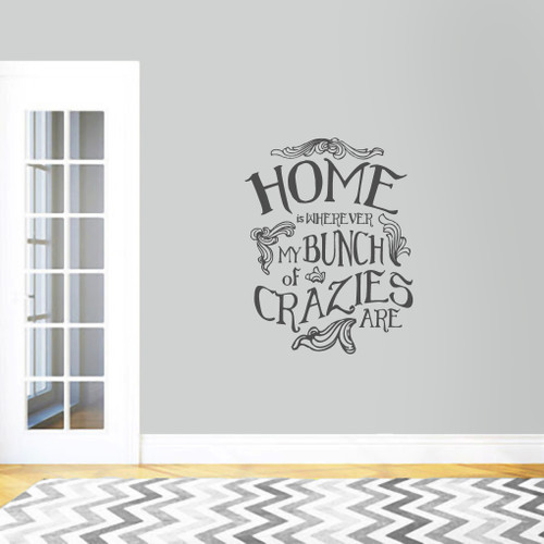 """My Bunch Of Crazies Wall Decal 28"""" wide x 36"""" tall Sample Image"""