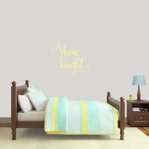 """Shine Bright Wall Decal 24"""" wide x 22"""" tall Sample Image"""