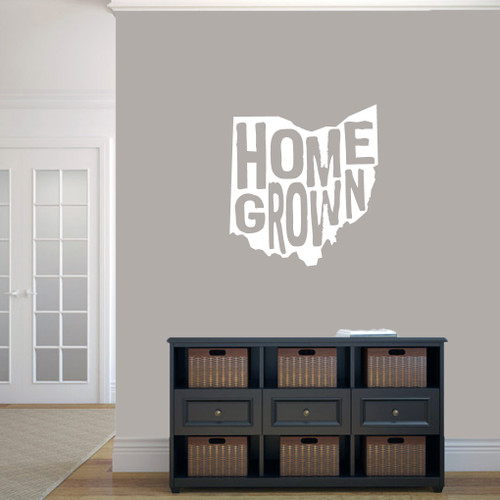 "Homegrown Ohio Wall Decal 22"" wide x 24"" tall Sample Image"