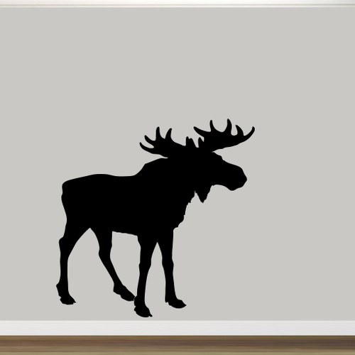 """Moose Silhouette Wall Decal 60"""" wide x 60"""" tall Sample Image"""