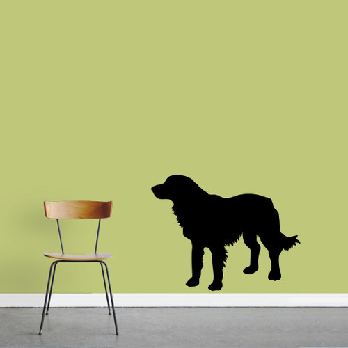 "Golden Retriever Dog Silhouette Wall Decal 36"" wide x 28"" tall Sample Image"