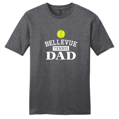 Heathered Charcoal Custom Tennis Dad T-Shirt
