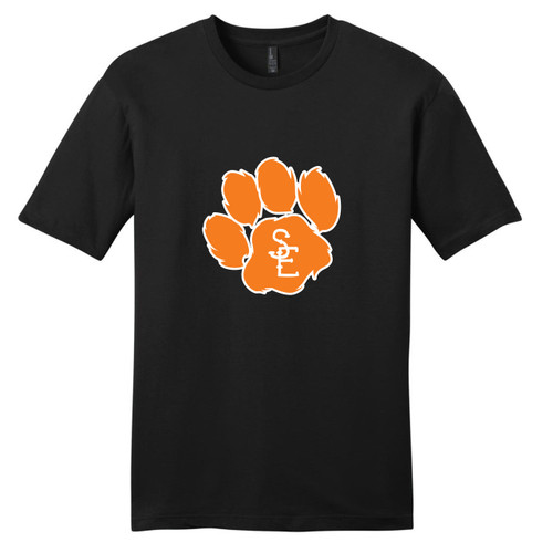 Black Seneca East Paw Print Adult Unisex T-Shirt