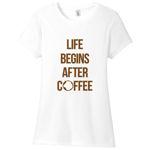 Life Begins After Coffee Women's Fitted T-Shirt