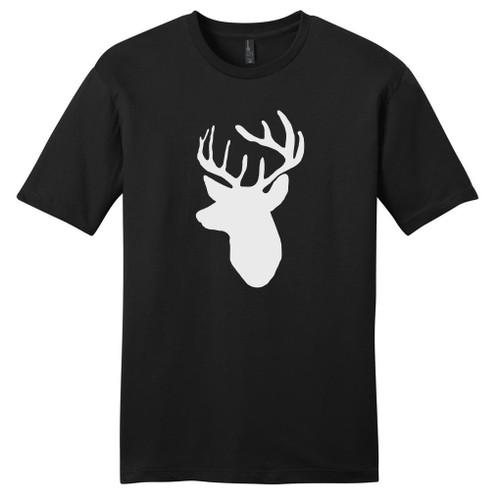 Black Mounted Buck Head T-Shirt