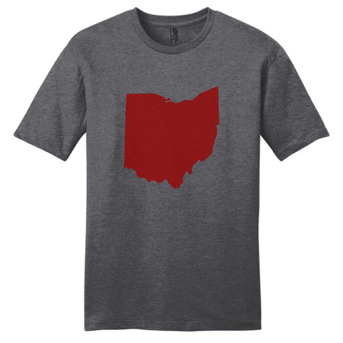 Heathered Charcoal Custom State Silhouette T-Shirt