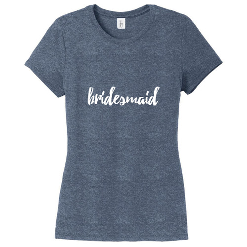 Navy Frost Bridesmaid Women's Fitted T-Shirt