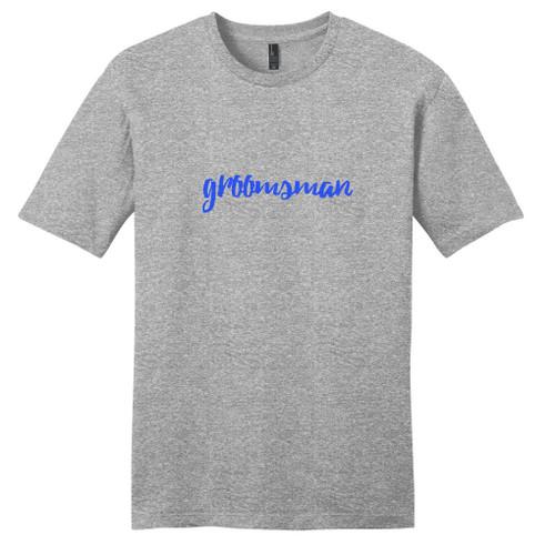 Light Heathered Gray Groomsman T-Shirt