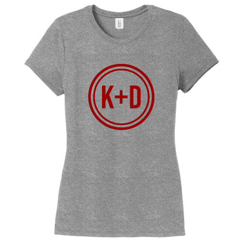 Gray Frost Custom Circle Initials Women's Fitted T-Shirt