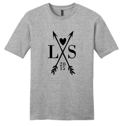 Light Heathered Gray Custom Crossed Arrows With Initials T-Shirt