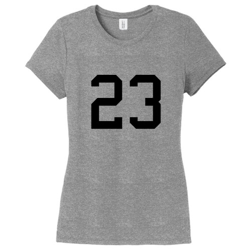 Gray Frost Custom Number Women's Fitted T-Shirt