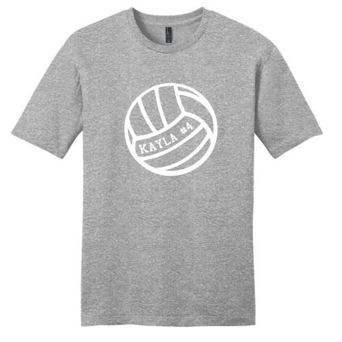 Light Heathered Gray CustomVolleyball T-Shirt