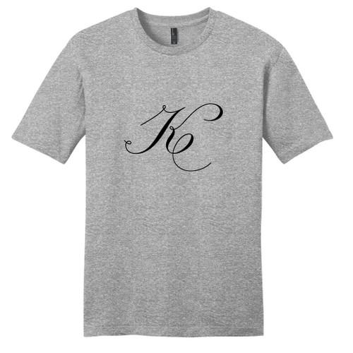 Light Heathered Gray Fancy Single Monogram T-Shirt