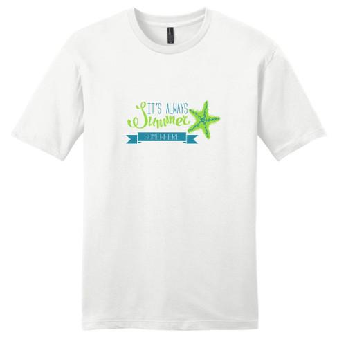 White It's Always Summer Somewhere T-Shirt