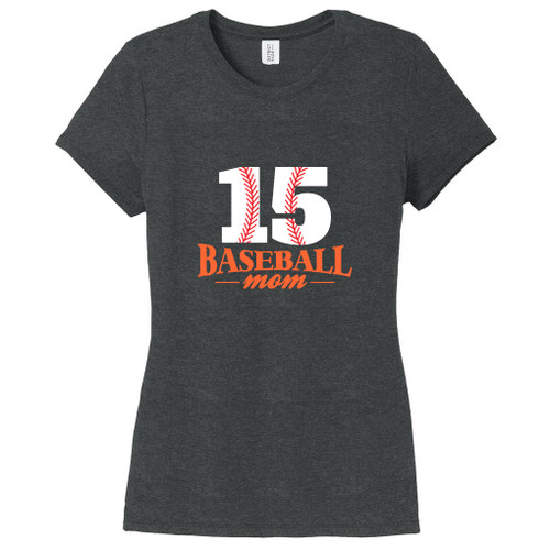 Black Frost Custom Baseball Mom Women's Fitted T-Shirt