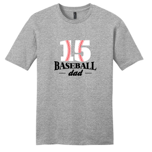 Light Heathered Gray Custom Baseball Dad T-Shirt