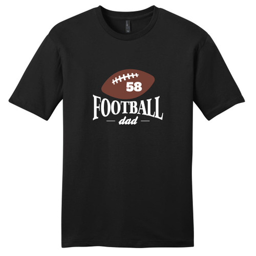 Black Custom Football Dad T-Shirt