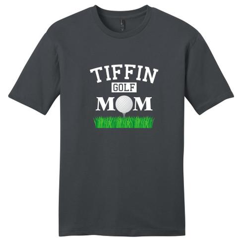 Charcoal Custom Golf Mom T-Shirt