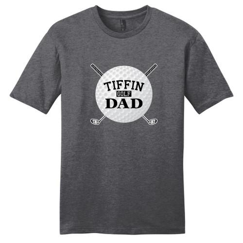 Heathered Charcoal Custom Golf Dad T-Shirt