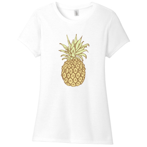 White Pineapple Women's Fitted T-Shirt