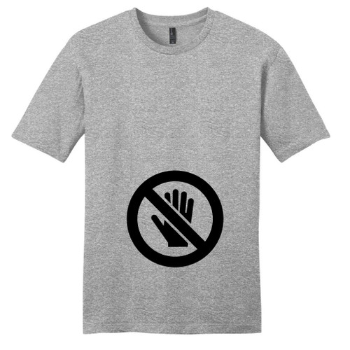 Light Heathered Gray Don't Touch The Belly T-Shirt