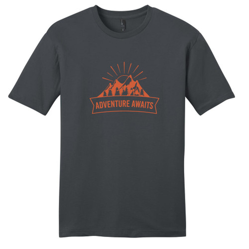Charcoal Adventure Awaits T-Shirt
