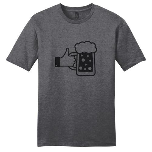 Heathered Charcoal I Like Beer T-Shirt