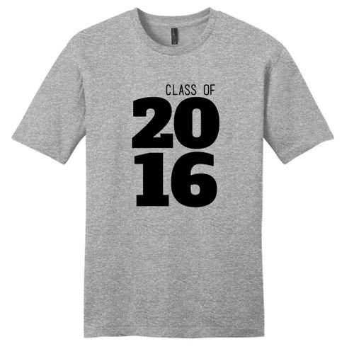 Light Heathered Gray Custom Class Of Year T-Shirt