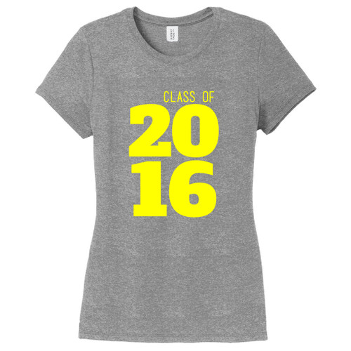 Gray Frost Custom Class Of Year Women's Fitted T-Shirt