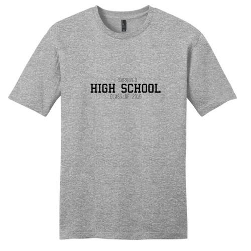 Light Heathered Gray Custom I Survived High School Class Of T-Shirt