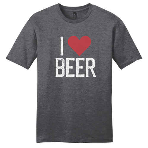 Heathered Charcoal I Heart Beer T-Shirt
